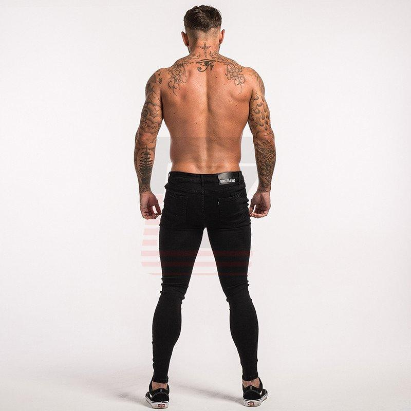 New Style Slim Fit Skinny Streetwear Tight Stretch Men Jeans with Ripped Fabric