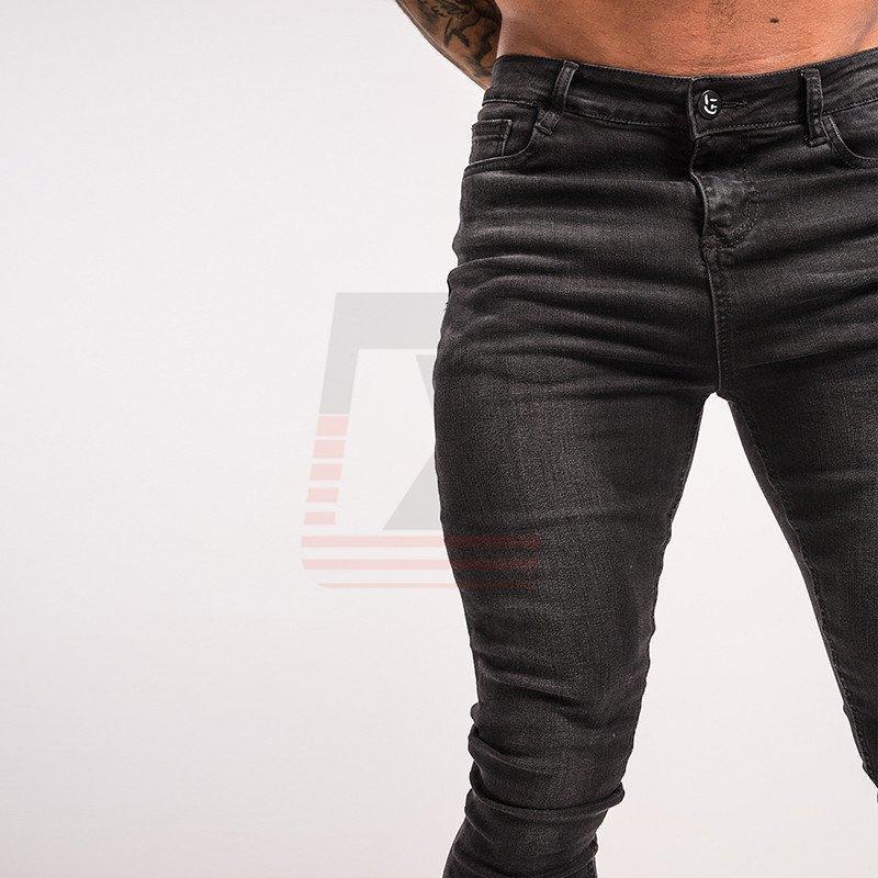 Men Warm Winter Fleece Denim Stretch Ship Slim Fit Super Skinny Medium Waist Jean