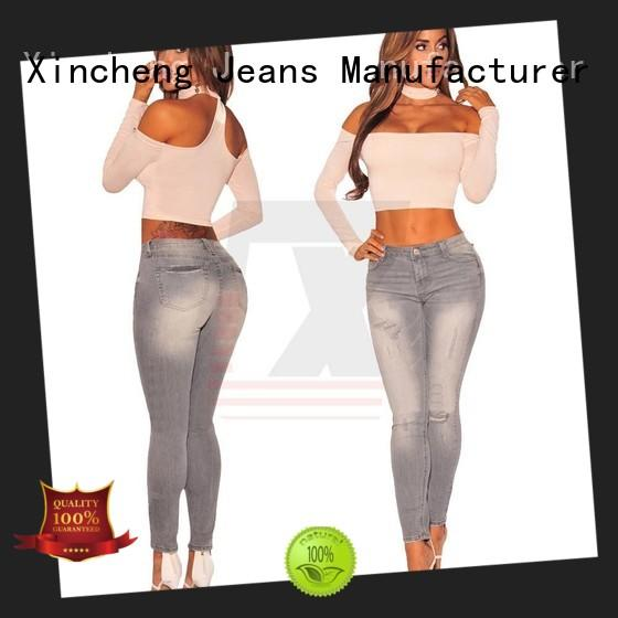 comfortable skinny jeans for women design manufacturer for girl