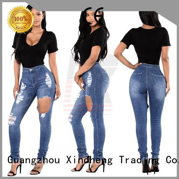 Xincheng Jeans fashion skinny jeans for women manufacturer for ladies