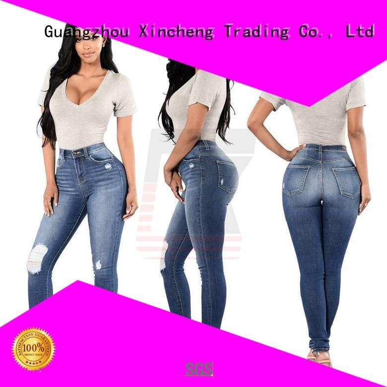 stylish euramerican destroyed skinny jeans Xincheng Jeans