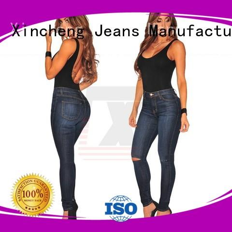 Xincheng Jeans knee skinny jeans for women series for girl