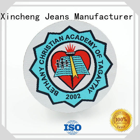 OEM Woven patch backing supplier for clothing