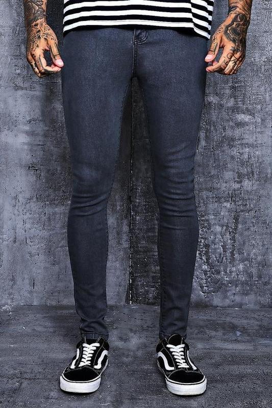 black skinny tight men jeans super stretch denim jeans