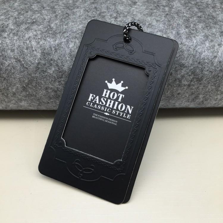 Custom Logo hollow out 3D Swing Hang Paper Tags For garment
