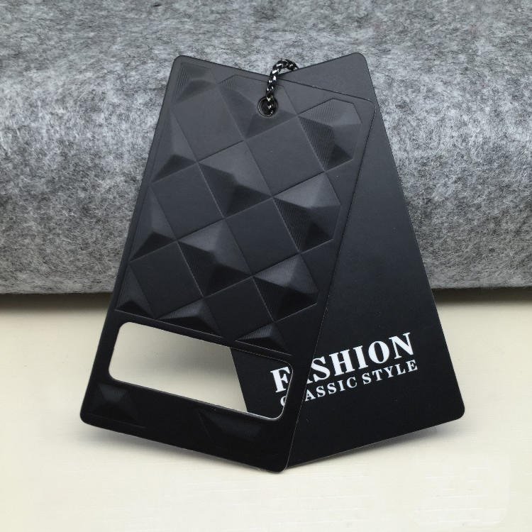 Engrave pattern hot stamping foil luxury design paper hang tag