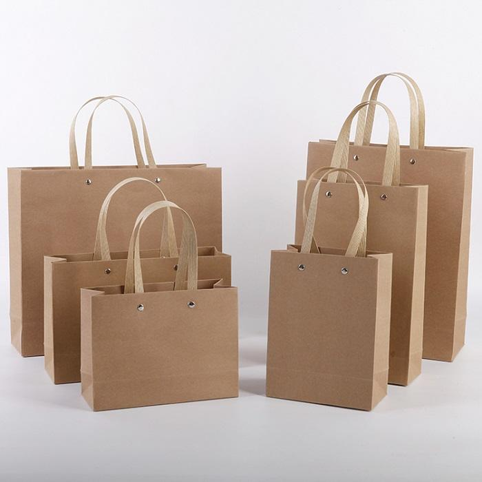 Available size heavy-duty craft paper bag nail handle in stock