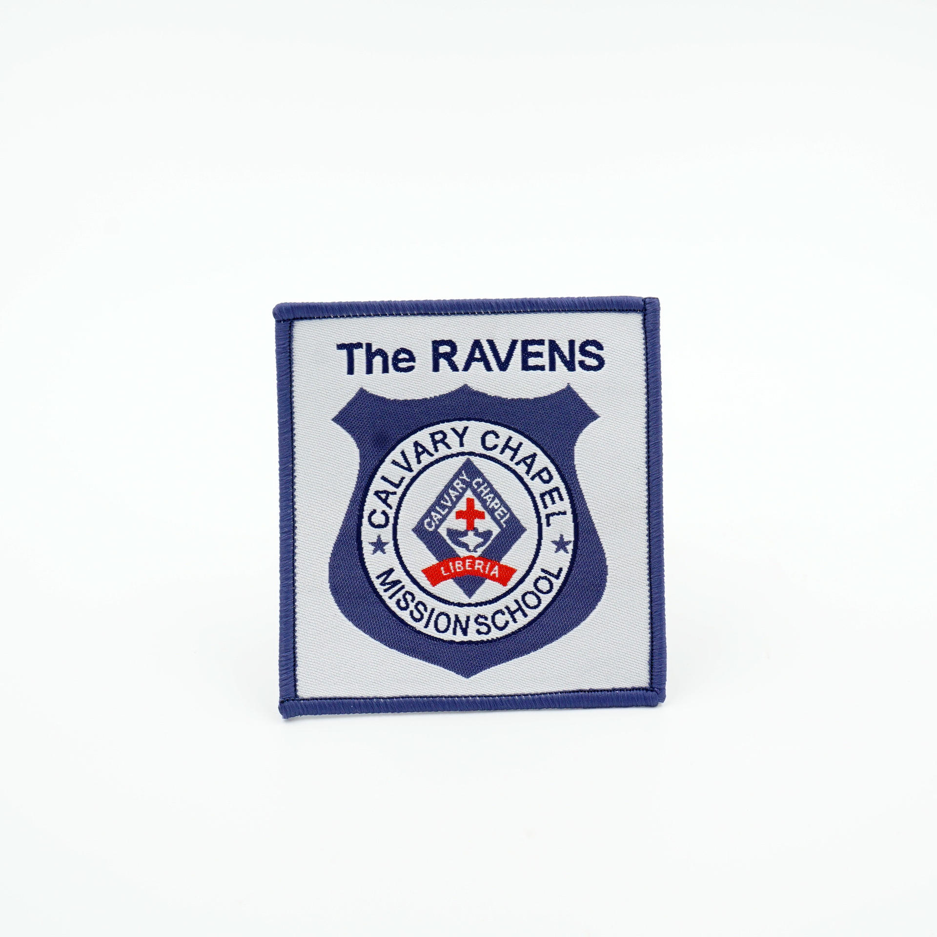 personality design own logo laser cutting uniform sew on woven patch