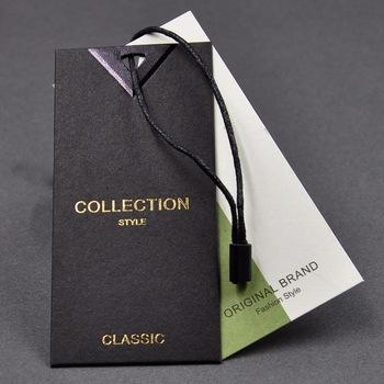 gold foil design luxury white cardboard widely use apparel hang tag