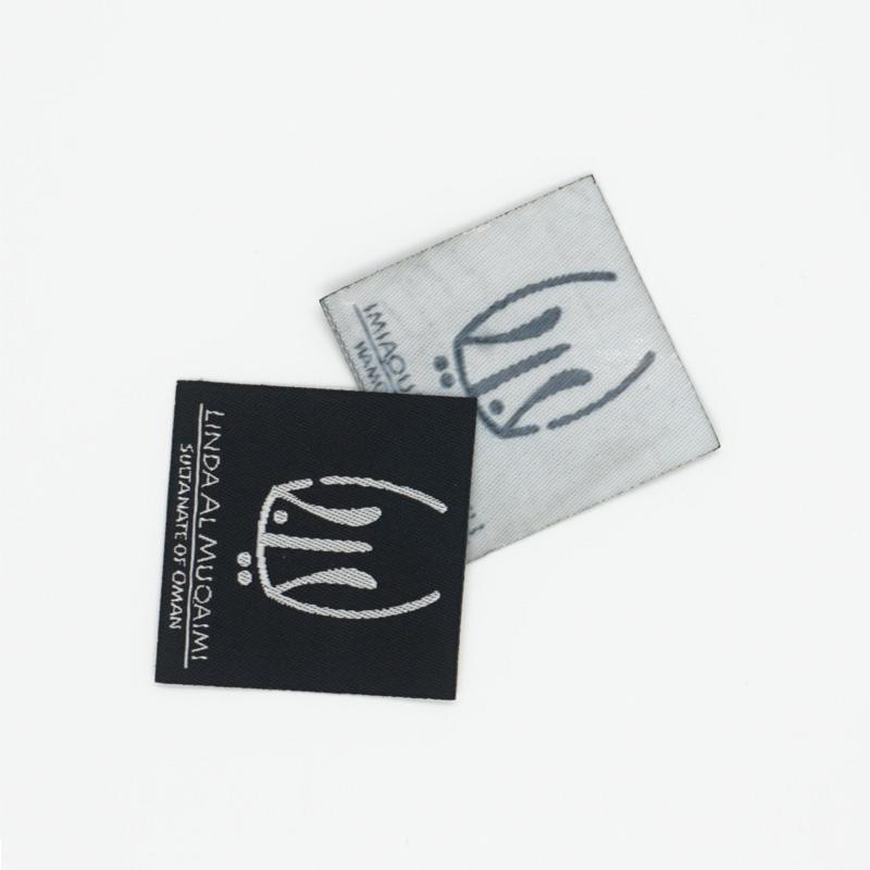 2019 fashion design damask woven label custom branded name wholesales garment label