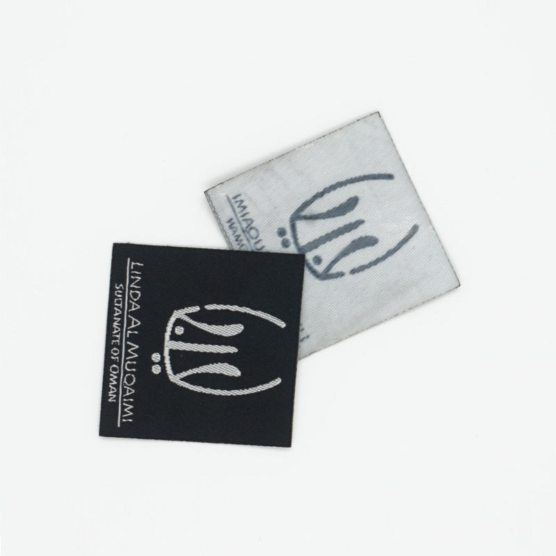 2019 woven clothing label custom branded name cotton label washable clothing labels China factory