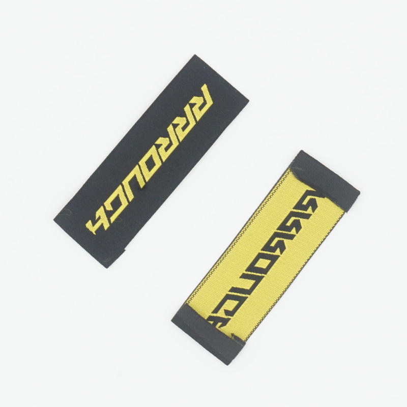 Garment accessories size woven labels China factory gold supplier cotton woven clothing labels