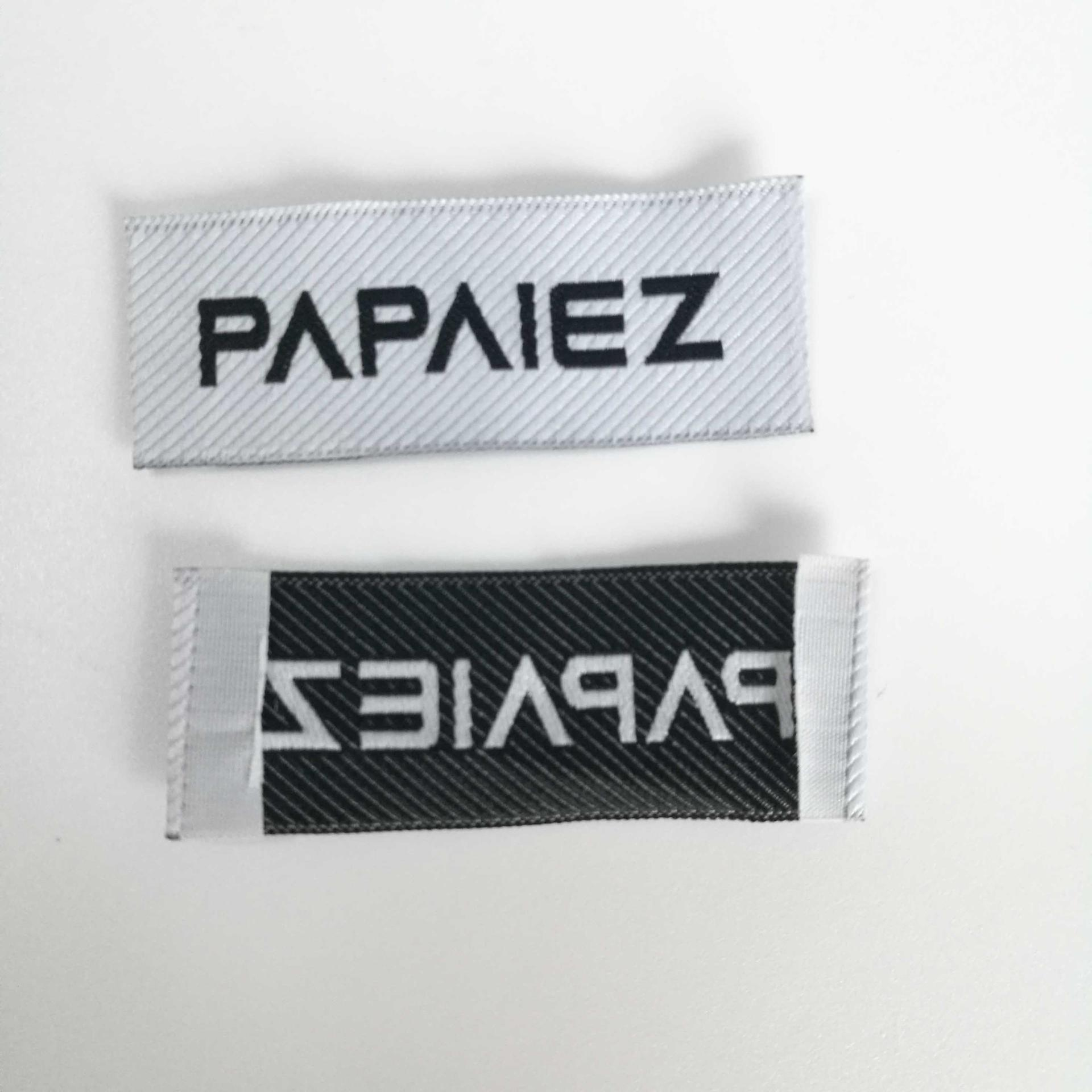 Clothing Accessory high density endfold fabric Twill woven label for bags,furniture