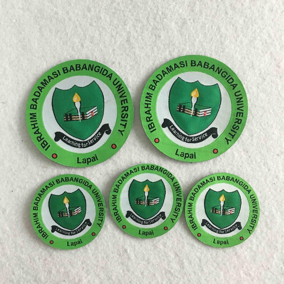 Green Merrow Border Private Design clear brand woven label for school uniform