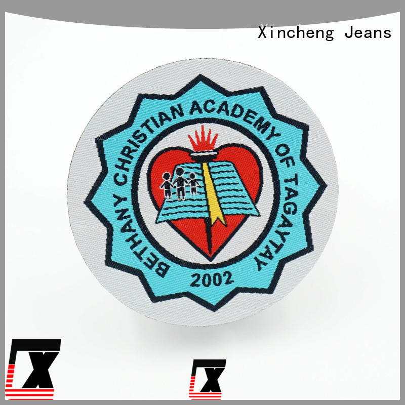 Xincheng Jeans personality Woven patch supplier for bags