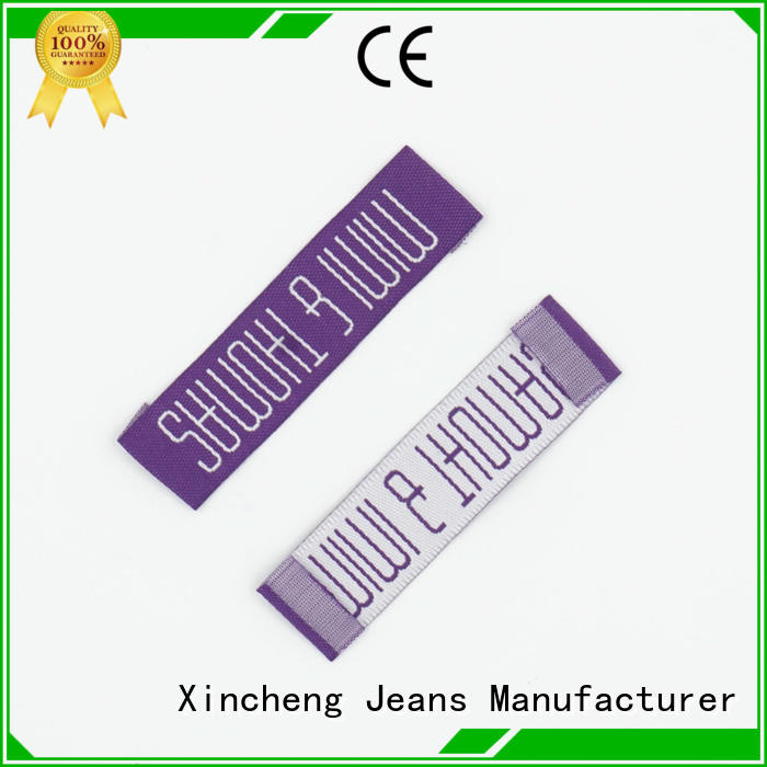 Xincheng Jeans cheap custom clothing labels supplier for gloves