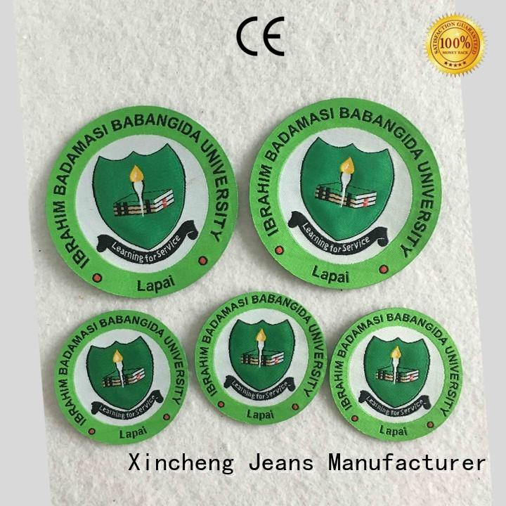 Xincheng Jeans damask custom clothing labels series for gloves